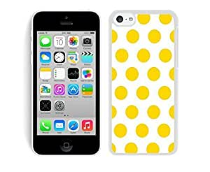 MMZ DIY PHONE CASEBINGO most popular Polka Dot White and Yellow iphone 4/4s Case White Cover
