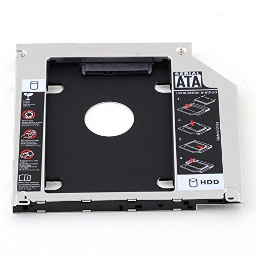 HIGHROCK Hard Drive Caddy Tray 9.5mm Universal SATA 2nd HDD HD SSD Enclosure Hard Drive Caddy Case Tray, for 9.5mm Laptop CD/DVD-ROM Optical Bay Drive Slot (for SSD and -
