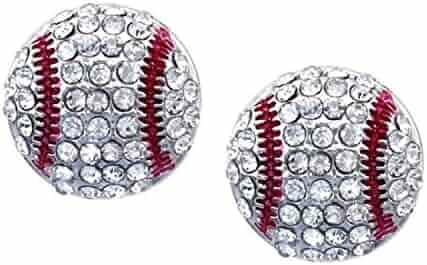 Baseball Earrings Stud Posts Kenz Laurenz
