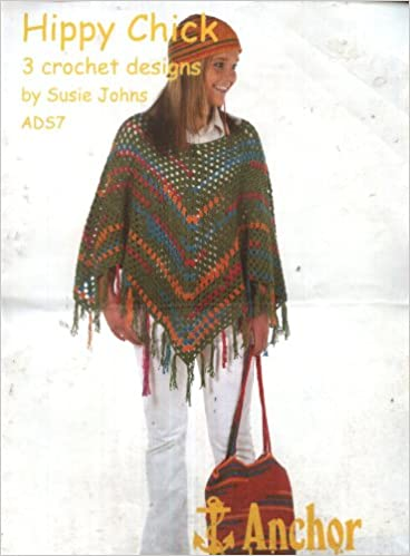 Anchor Crochet Pattern Ads7 Hippy Chick Ladies Crocheted Poncho