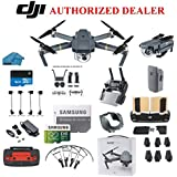 DJI Mavic Pro Drone Quadcopter 4K Professional Camera Gimbal Bundle Kit with 32GB SD Card + 3.0 Card Reader, Landing Gear, Prop Guards and Must Have Accessories