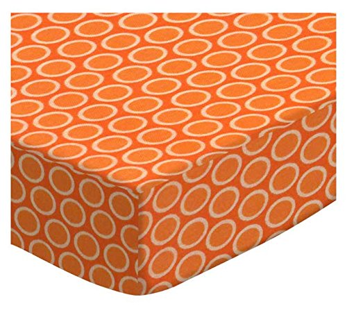 SheetWorld Fitted Cradle Sheet - Primary Bubbles Orange Woven - Made In USA