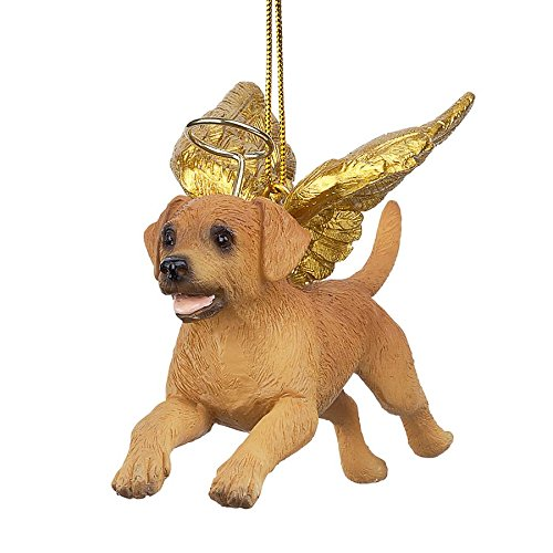 (Christmas Tree Ornaments - Honor The Pooch Golden Retriever Holiday Angel Dog Ornaments)