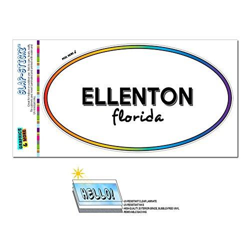 Graphics and More Rainbow Euro Oval Window Laminated Sticker Florida FL City State Dun - Kis - - Ellenton Florida