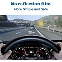 Car HUD Head Up Display 3.5,OBD2/EUOBD Interface Plug & Play,Measure Driving Speed,Display KM/h MPH,Speeding Warning,Water Temperature, battery voltage, Fatigue Driving Warning