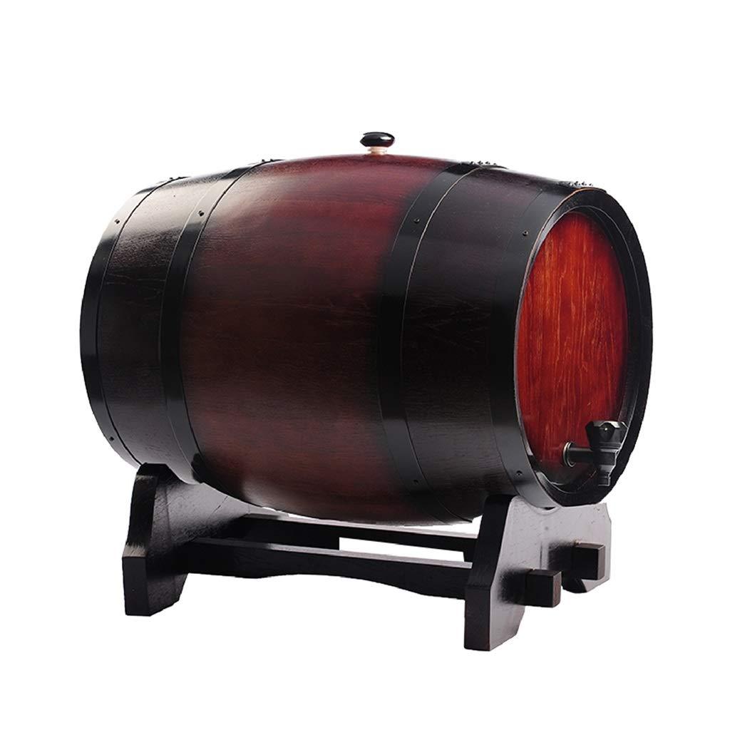 Yilian Jiutong Oak Barrel Wine Barrel Wine red Wine Liquor Barrel Household self-Made Beer Barrel Oak Barrel Without Gallbladder Baking Wine (Color : Wine red, Size : 3L)