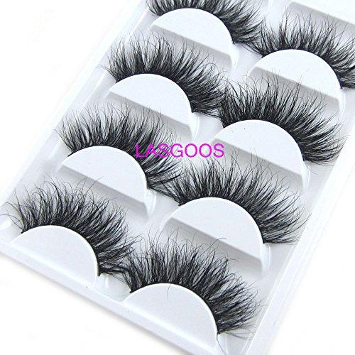 100-Siberian-Mink-Fur-3D-False-Eyelash-LASGOOS-Degisn-Luxurious-Natural-Messy-Volume-Fluffy-Long-Hot-Fake-Eyelashes-5-PairsBox-A11-5