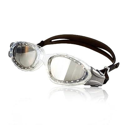 Swimming Goggles Grande boîte HD imperméable à l'eau anti-buée lunettes hommes et femmes souple liquide silicone lunettes de natation sans soudure, adulte natation équipement professionnel