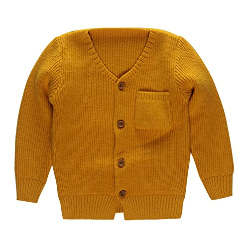 Detail Cashmere Cardigan (Coodebear Little Baby Boys Cashmere Pockets Cardigan Sweaters Yellow Size 2T)