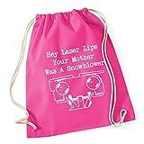 HippoWarehouse Hey Laser Lips Your Mother Was A Snowblower Drawstring Cotton School Gym Kid Bag Sack 37cm x 46cm, 12 litres