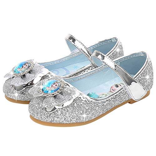 Zapatos de la Princesa Elsa niñas con Lentejuela Disfraz Elsa Frozen