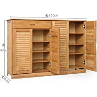 Wooden shoe cabinet bamboo shoe rack solid wood,simple,shoebox storage room shoe rack [multilayer],multifunction,porch door cabinet-N