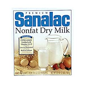 Sanalac Dry Milk, Nonfat, 32-Ounce (Pack of 2)