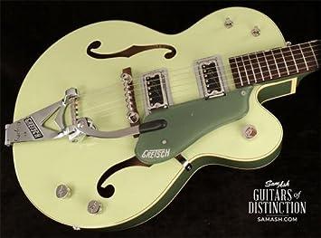 GRETSCH g6118t-60 Vintage seleccione edición de 60 aniversario para guitarra eléctrica cuerpo hueco con Bigsby (SN: jt16072394): Amazon.es: Instrumentos ...
