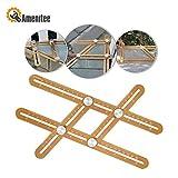 Amenitee Multi-function Ruler - Ultimate Irregular Shape Copy Tool-Universal Angularizer Ruler - Full Metal...