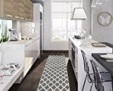 Kitchen Rugs Ottomanson Glamour Collection Contemporary Moroccan Trellis Design Kids Lattice Area Rug (Non-Slip) Kitchen and Bathroom Mat, 20