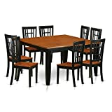 Cheap East West Furniture PFNI9-BCH-W 9 Pc Dining Room Set-Dining Table and 8 Wood Dining Chairs