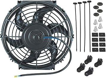 7 Inch American Volt Reversible Electric Engine Fan 12V Radiator Condenser Cooler High Performance Motor Air Flow Power CFM