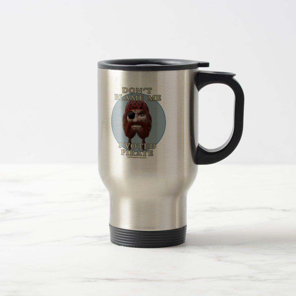 Zazzleは責めないMe , I Voted Pirateコーヒーマグ 15 oz, Travel/Commuter Mug 0d3ddc11-9952-1d54-c940-87f046baf2b0 B077NQRDPG  ステンレススチール 15 oz, Travel/Commuter Mug
