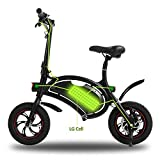 Wireless Smart E-Bike 350W 36V Folding Electric Bicycle with 12 Mile Range Cruise Control/APP Speed Setting