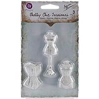 Prima Marketing Shabby Chic Treasures Resin, Mannequins, 3-Pack