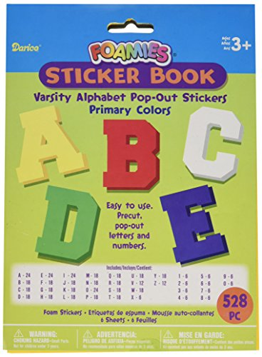 Darice Pop Out Sticker Alphabet Primary 528 Pack