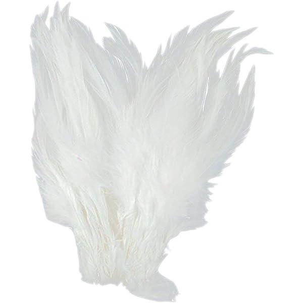 Lyanther Aproximadamente 50 unids te/ñido de Plumas de Plumas de Gallo para decoraci/ón 10-15 Cm Joyer/ía DIY//Manualidades Accesorios para el Cabello
