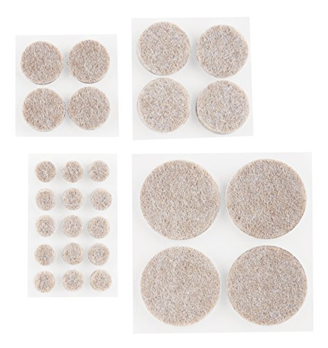 Scotch Felt Pads Value Pack, Round, Beige, Assorted Sizes, 162 Pads/Pack, 4-Packs (648 Total) by Scotch (Image #1)