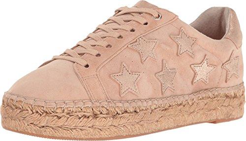 Marc Fisher Dames Marcia Leer Lage Top Vetersluiting Sneakers Licht Natuurlijk