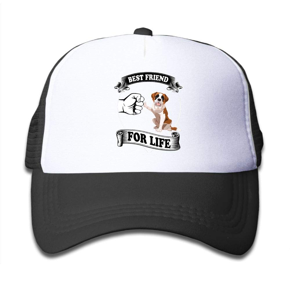 Best Friend St Bernard Youth Boys Mesh Hat Fashion Child Mesh Hat One Size