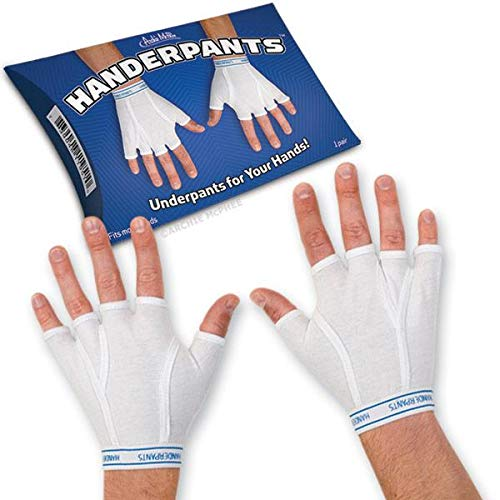 Archie McPhee Handerpants Underpants for Your Hands, White ()