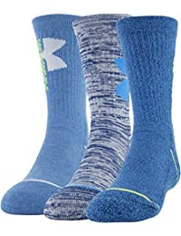 Unisex-Child Phenom Crew Socks, 3-Pairs