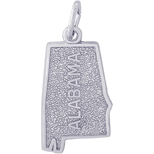 Sterling Silver Alabama State Charm (Rembrandt Charms Sterling Silver Alabama Charm (18.5 x 11.5 mm))