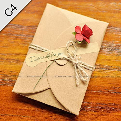 5PCS/Lot Kraft paper envelope for wedding invitations flower envelope]()