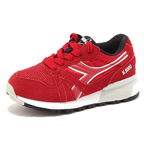 Diadora Junior Boy Sneaker Shoes Navy Blue OR Red Code 501.171129 01 N9000 Jr ROSSO PEPERONCINO
