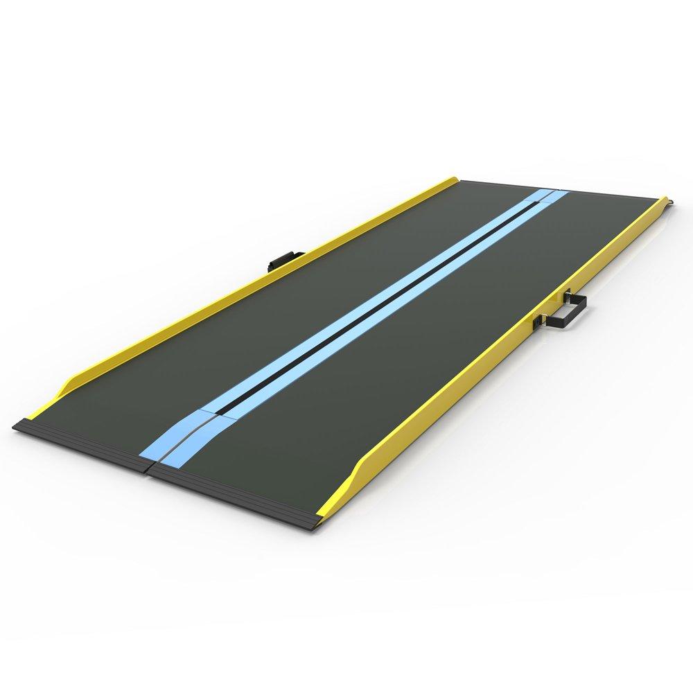 EZ-ACCESS Suitcase Singlefold Graphite Fiber Ramp, 82 Inch, 27 Pound