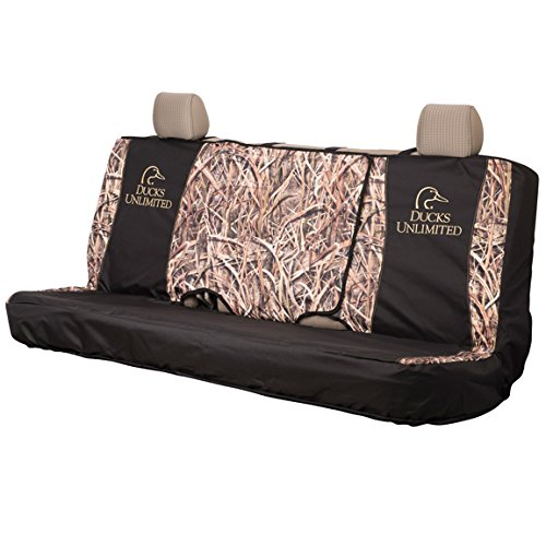 Ducks Unlimited Mid-Size Camo Bench Seat Cover (Mossy Oak Blades Camo, Durable Polyester Fabric, Includes One Seat Cover) (Ducks Unlimited Camouflage Camo)