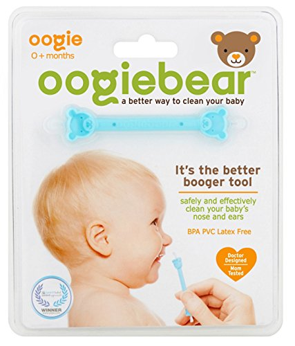 oogiebear - The Safe Baby Nasal Booger and Ear Cleaner; Baby Shower and Registry Essential Snot Removal Tool - 1 Count -