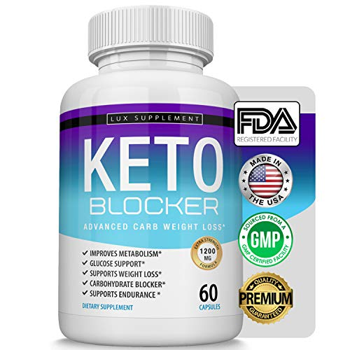 Lux Supplement Keto Blocker Pills Advanced Carb Weight Loss - 1200 mg Natural Ketosis Fat Burner for ketogenic Diet, Suppress Appetite & Cravings, Boost Metabolism, Effective Men Women, 60 Capsules