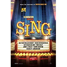 Sing 27x40 Original D/S Movie Poster - Matthew McConaughey - Reese Witherspoon