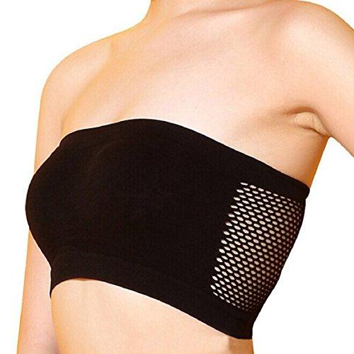Sandistore Women Sexy Strapless Top Vest Sports Bras (Black)