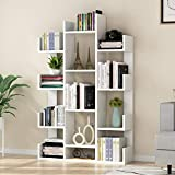 Tribesigns 12-Shelf Bookcase, Modern Tree Bookshelf Book Rack Display Shelf Storage Organizer for CDs, Records, Books, Home Office Deco (White)