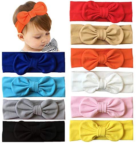 Qandsweet Baby Girl's Elastic Headbands Hair Accessories for Take Photos (10Pcs Newo3)