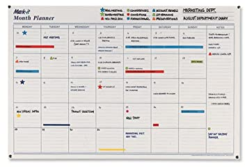 Mark-it Month Planner Laminated with Notes Column W900xH600mm ...