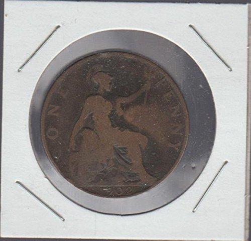 1902 One Penny (1902 United Kingdom Classic Head Penny Very)