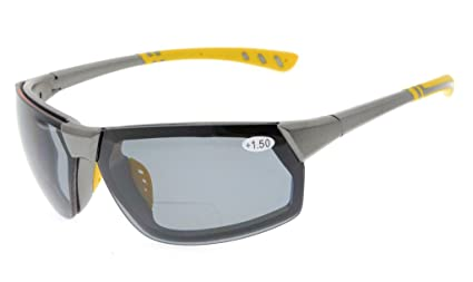 gr8sight Sun lector de lectura Bifocales polarizadas Gafas de sol cristales tintados Hombre wrapa Round Designer