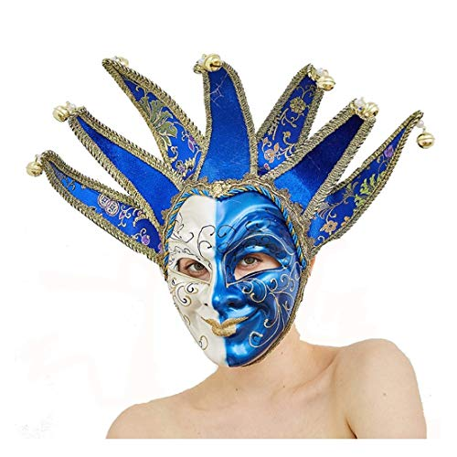 Blue Joker Carnival Mask Venetian Masquerade Masks Mardi Gras Party Costume Holloween Masks ()