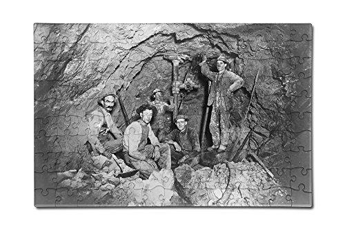 Coeur Dalene  Idaho   Chance Mine Lead Mining   Vintage Photograph  12X18 Premium Acrylic Puzzle  130 Pieces