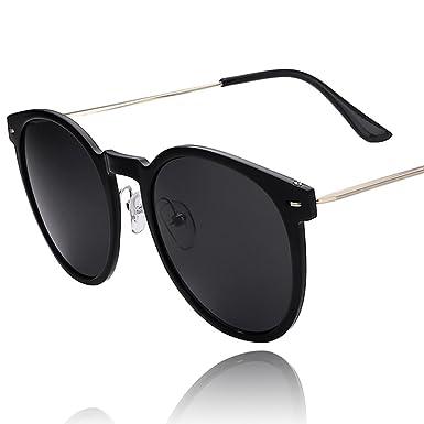 2d4358b29eb8 Mens circle frame sunglasses Ultra-light sunglasses sunglass UV glasses-A