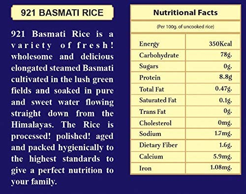 921 Lajawab Tohfa Premium Quality Fine Grains Export Quality Basmati Rice - 5 Kg 2021 August Perfect for A Delicious Biryani , Jeera Rice , Pulao Authentic Basmati Rice With Rich Aroma Pusa Basmati Rice